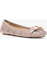 1c2c5de6669 Michael Kors - Fulton Floral Perforated Leather Moccasin - Lyst