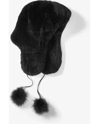 Michael Kors - Fur Pom-pom Earflap Hat - Lyst