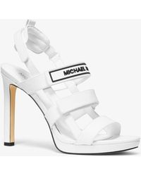 MICHAEL Michael Kors - Demi Leather Sandal - Lyst