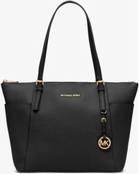 Michael Kors - Jet Set Large Top-zip Leather Tote - Lyst
