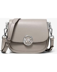 Michael Kors - Lillie Small Leather Saddle Bag - Lyst