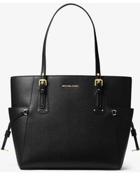 Michael Kors - Voyager East West Black Saffiano Leather Tote Bag - Lyst