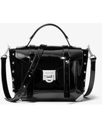 MICHAEL Michael Kors - Manhattan Medium Patent Leather Satchel - Lyst