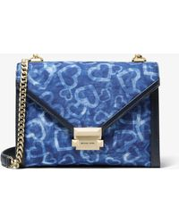ba7298a2795d Michael Kors - Whitney Large Heart Tie-dye Convertible Shoulder Bag - Lyst