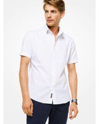 Michael Kors - Slim-fit Pindot Cotton Shirt - Lyst