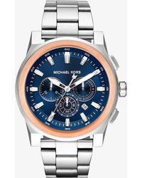 Michael Kors - Grayson Silver-tone Watch - Lyst
