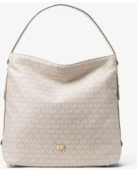 Michael Kors - Griffin Large Logo Jacquard Shoulder Bag - Lyst