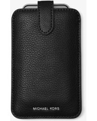Michael Kors - Pebbled Leather Phone Sleeve For Iphone 6/6s - Lyst