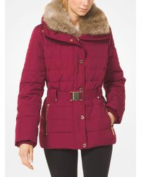 38aaf84908ed Michael Kors - Quilted Down And Faux Fur Puffer Jacket - Lyst