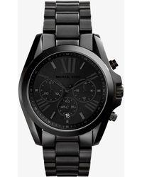Michael Kors - Oversized Bradshaw Black-tone Watch - Lyst