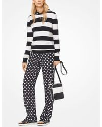 Michael Kors - Coin Dot Crushed Georgette Pajama Pants - Lyst