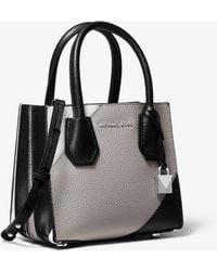 930495fa1bc9 MICHAEL Michael Kors - Mercer Tri-color Pebbled Leather Accordion Crossbody  - Lyst