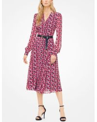 Michael Kors - Carnation Georgette Shirtdress - Lyst