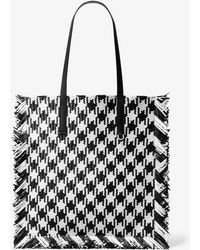 18162646697e Michael Kors - Maldives Large Gingham Woven Leather Tote Bag - Lyst