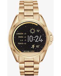 Michael Kors - Bradshaw Gold-tone Smartwatch - Lyst