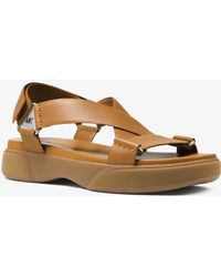 Michael Kors - Milo Leather Sport Sandal - Lyst