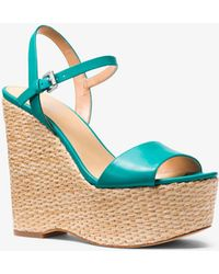 Michael Kors - Fisher Leather Wedge - Lyst