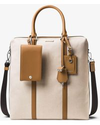 Michael Kors - Billy Tall Canvas Briefcase - Lyst