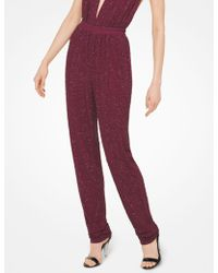 Michael Kors - Crystal-embroidered Matte-jersey Trousers - Lyst
