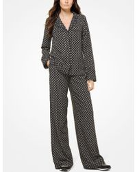 Michael Kors - Studded Medallion Pajama Shirt - Lyst