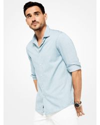 Michael Kors - Slim-fit Chambray Shirt - Lyst