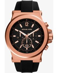 Michael Kors - Dylan Rose Gold-tone Stainless Steel Watch - Lyst