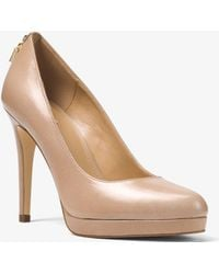 Michael Kors - Antoinette Leather Pump - Lyst