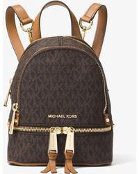 Michael Kors - Mini sac à dos Rhea avec logo - Lyst