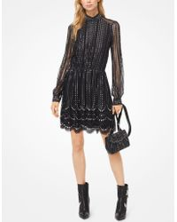 Michael Kors - Embroidered Lace Tiered Dress - Lyst