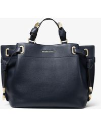 Michael Kors - Greta Large Pebbled Leather Satchel - Lyst 06daca8602fb3