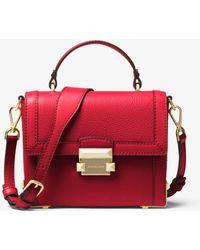 0c58088c861c MICHAEL Michael Kors - Jayne Small Pebbled Leather Trunk Bag - Lyst