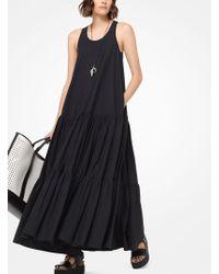 Michael Kors - Cotton-poplin Trapeze Dress - Lyst