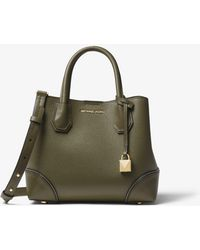 Michael Kors - Mercer Gallery Small Pebbled Leather Satchel - Lyst