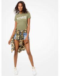 Michael Kors - Michael Cotton Embellished Logo T-shirt - Lyst