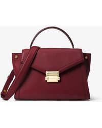 9ec16f52d94c Michael Kors - Whitney Medium Leather Satchel - Lyst