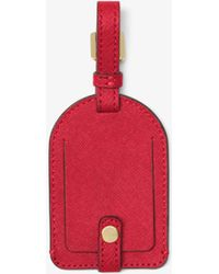 e7f2983074fe Michael Kors - Jet Set Travel Saffiano Leather Luggage Tag - Lyst