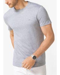 Michael Kors - Cotton Crewneck T-shirt - Lyst