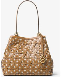 Michael Kors - Brooklyn Large Leather And Canvas Tote - Lyst