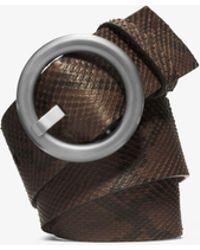 Michael Kors - Python Belt - Lyst