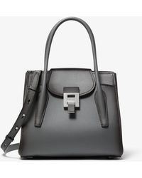 Michael Kors - Bancroft Medium Burnished Calf Leather Satchel - Lyst