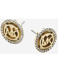 Michael Kors - Logo Gold-tone Stud Earrings - Lyst
