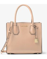 Michael Kors - Mercer Leather Crossbody Bag - Lyst