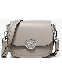 b6ab6a91fd28 Michael Kors  mercer  Medium Leather Crossbody Bag in Red - Lyst