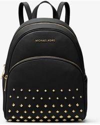 Michael Kors - Abbey Medium Studded Pebbled Leather Backpack - Lyst