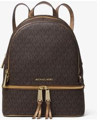 Michael Kors - Rhea Medium Logo Backpack - Lyst