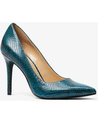 Michael Kors - Claire Embossed-leather Pump - Lyst