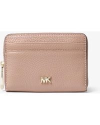 Michael Kors - Small Pebbled Leather Wallet - Lyst
