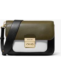 2d7096c26b6f Michael Kors - Sloan Editor Color-block Leather Shoulder Bag - Lyst