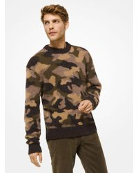 Michael Kors - Camouflage Wool-blend Pullover - Lyst