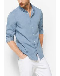 Michael Kors - Slim-fit Denim Shirt - Lyst